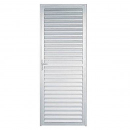 Porta De Aluminio Nat Veneziana 0,60x210