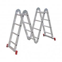 Escada Aluminio Botafogo Articulada 4x4d