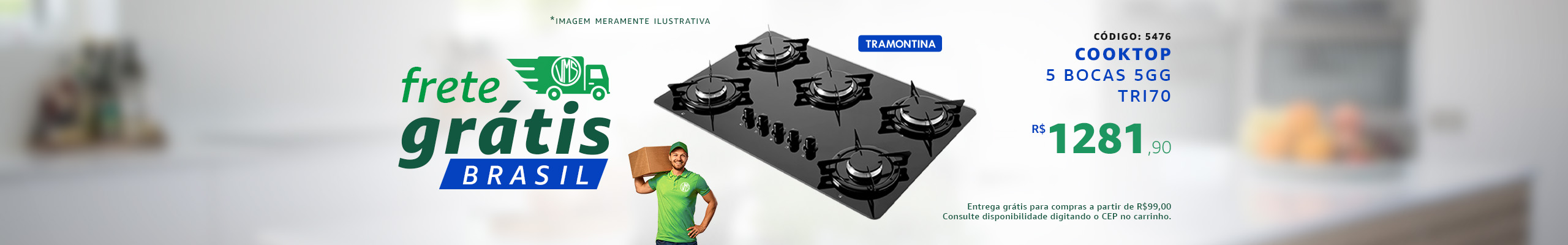 CookTop Tramontina Promoção